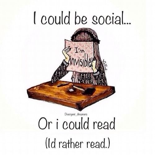 Or I could read